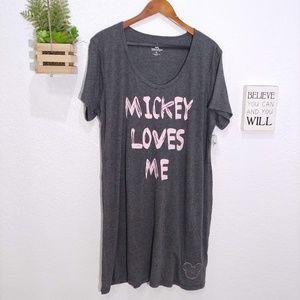 "Disney Parks ""Mickey Loves Me"" t-shirt Dress NWT"